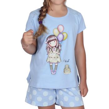 Vêtements Fille Pyjamas / Chemises de nuit Admas Pyjama short t-shirt I Wish Santoro bleu Bleu