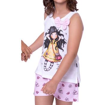 Vêtements Femme Pyjamas / Chemises de nuit Admas Pyjama short débardeur Spring At Last Santoro blanc Blanc