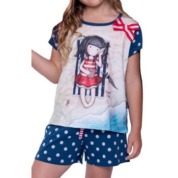 Vêtements Femme Pyjamas / Chemises de nuit Admas Pyjama short t-shirt Summer Days Santoro marine Bleu Marine