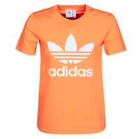Vêtements Femme Sweats adidas Originals TREFOIL TEE Orange
