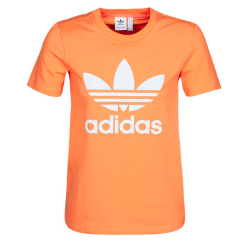 Vêtements Femme Sweats adidas Originals TREFOIL TEE Orange