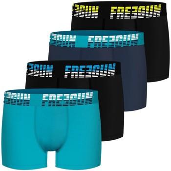 Sous-vêtements Homme Boxers Freegun Lot de 4 boxers coton homme Bleu