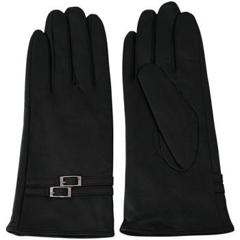 Accessoires textile Femme Gants Chapeau-Tendance Gants femme cuir SVEVIA Noir