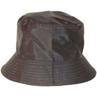 Accessoires textile Femme Chapeaux Chapeau-Tendance Bob de pluie satiné Noir