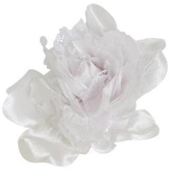 Accessoires textile Femme Chapeaux Chapeau-Tendance Mini bibi satiné Blanc