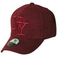 Accessoires textile Casquettes Chapeau-Tendance Casquette NY chinée Bordeaux