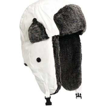 Accessoires textile Bonnets Chapeau-Tendance Chapka aviateur Blanc
