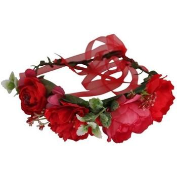 Accessoires textile Femme Chapeaux Chapeau-Tendance Couronne de fleurs serre tête Rouge