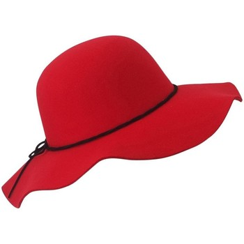 Accessoires textile Femme Chapeaux Chapeau-Tendance Chapeau capeline ANIA Rouge