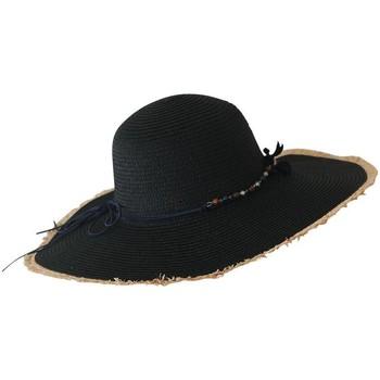 Accessoires textile Femme Chapeaux Chapeau-Tendance Chapeau capeline LAILA Noir