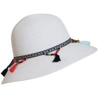 Accessoires textile Femme Chapeaux Chapeau-Tendance Mini capeline à pompons Blanc
