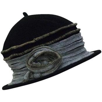 Accessoires textile Femme Chapeaux Chapeau-Tendance Chapeau cloche en laine FAUSTINE Noir