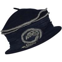 Accessoires textile Femme Chapeaux Chapeau-Tendance Chapeau cloche en laine FAUSTINE Bleu