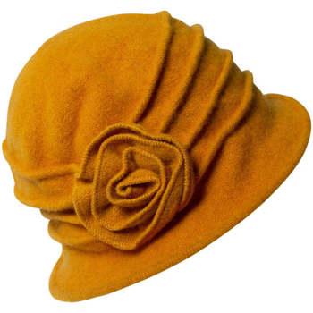 Accessoires textile Femme Chapeaux Chapeau-Tendance Chapeau cloche laine MARTINA Jaune moutarde