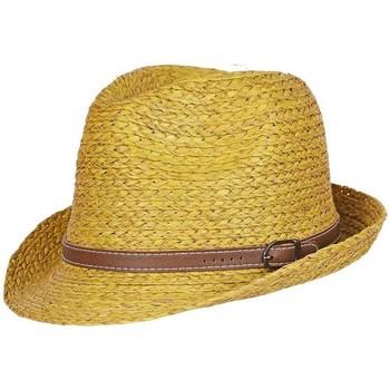 Accessoires textile Femme Chapeaux Chapeau-Tendance Chapeau trilby YVED Jaune moutarde