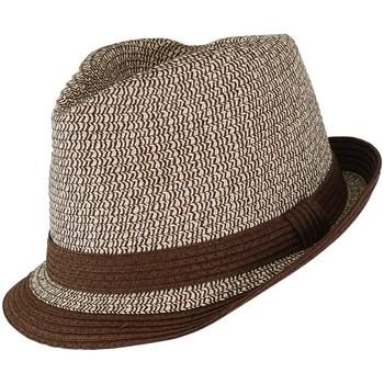 Accessoires textile Chapeaux Chapeau-Tendance Chapeau trilby LYANA Marron