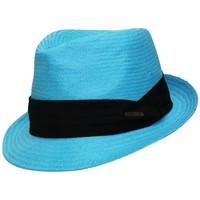 Accessoires textile Chapeaux Chapeau-Tendance Trilby style panama Bleu turquoise