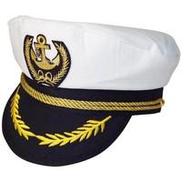 Accessoires textile Homme Casquettes Chapeau-Tendance Casquette de capitaine DARIO Blanc