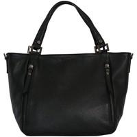 Sacs Femme Cabas / Sacs shopping Chapeau-Tendance Sac à main cuir italien MELANIA Noir