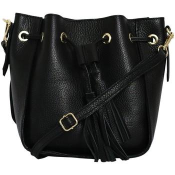 Sacs Femme Sacs porté épaule Chapeau-Tendance Sac à main cuir WINSTON Noir
