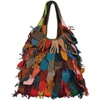 Sacs Femme Sacs porté épaule Chapeau-Tendance Sac cuir hippie VIOLETTA Multicolore