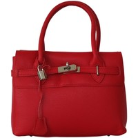 Sacs Femme Sacs porté épaule Chapeau-Tendance Sac à main cuir grainé Italien Rouge