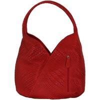 Sacs Femme Sacs porté épaule Chapeau-Tendance Sac a main cuir tressé MAELLE Rouge