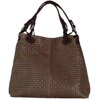 Sacs Femme Cabas / Sacs shopping Chapeau-Tendance Sac à main cuir italien EVA Taupe