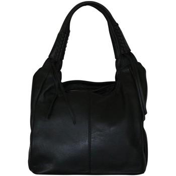 Sacs Femme Sacs porté épaule Chapeau-Tendance Sac a main cuir PIPER Noir