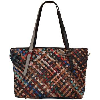 Sacs Femme Cabas / Sacs shopping Chapeau-Tendance Sac a main cuir tressé ARLEQUIN Multicolore
