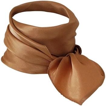 Accessoires textile Femme Echarpes / Etoles / Foulards Chapeau-Tendance Foulard polysatin uni Camel