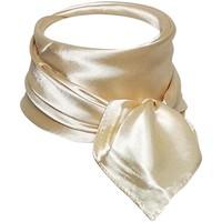 Accessoires textile Femme Echarpes / Etoles / Foulards Chapeau-Tendance Foulard polysatin uni Blanc crême