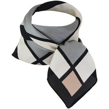 Accessoires textile Femme Echarpes / Etoles / Foulards Chapeau-Tendance Foulard polysatin quadrillé Gris