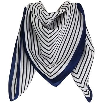 Accessoires textile Femme Echarpes / Etoles / Foulards Chapeau-Tendance Foulard polysatin rayé Bleu