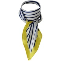 Accessoires textile Femme Echarpes / Etoles / Foulards Chapeau-Tendance Foulard polysatin rayé Jaune