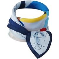 Accessoires textile Femme Echarpes / Etoles / Foulards Chapeau-Tendance Foulard polysatin géométrique Bleu