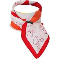Accessoires textile Femme Echarpes / Etoles / Foulards Chapeau-Tendance Foulard polysatin géométrique Rouge