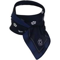 Accessoires textile Femme Echarpes / Etoles / Foulards Chapeau-Tendance Foulard polysatin petites fleurs Bleu marine