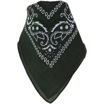 Accessoires textile Echarpes / Etoles / Foulards Chapeau-Tendance Bandana uni coton Vert kaki