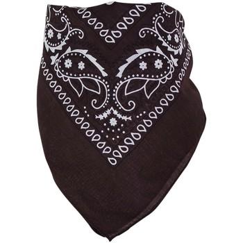 Accessoires textile Echarpes / Etoles / Foulards Chapeau-Tendance Bandana uni coton Marron