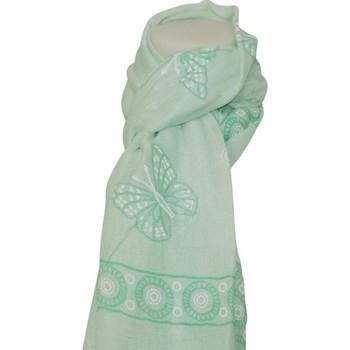 Accessoires textile Femme Echarpes / Etoles / Foulards Chapeau-Tendance Foulard papillons TITOUAN Vert