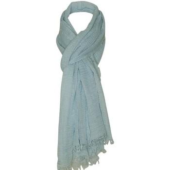 Accessoires textile Femme Echarpes / Etoles / Foulards Chapeau-Tendance Cheche froissé uni Bleu clair