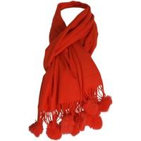 Accessoires textile Femme Echarpes / Etoles / Foulards Chapeau-Tendance Etole chale à pompons Rose corail