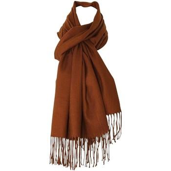 Accessoires textile Echarpes / Etoles / Foulards Chapeau-Tendance Echarpe 30 % cachemire PETRA Marron