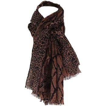 Accessoires textile Femme Echarpes / Etoles / Foulards Chapeau-Tendance Foulard léopard PUNO Marron