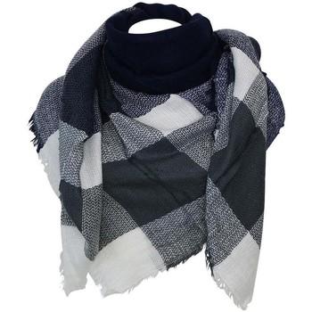 Accessoires textile Femme Echarpes / Etoles / Foulards Chapeau-Tendance Echarpe carré XXL JANOS Bleu marine