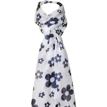 Accessoires textile Femme Echarpes / Etoles / Foulards Chapeau-Tendance Foulard a fleurs Blanc