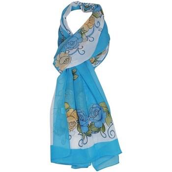 Accessoires textile Femme Echarpes / Etoles / Foulards Chapeau-Tendance Mousseline floral IVANKA Bleu