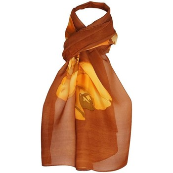 Accessoires textile Femme Echarpes / Etoles / Foulards Chapeau-Tendance Mousseline fleurs LIAMA Marron
