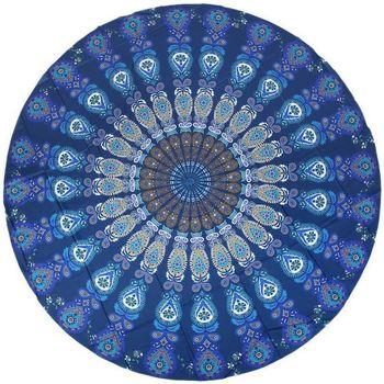Vêtements Femme Paréos Chapeau-Tendance Serviette de plage ronde fine RADO Bleu